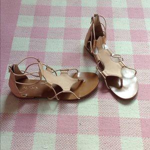 Aldo tan Leather Sandals
